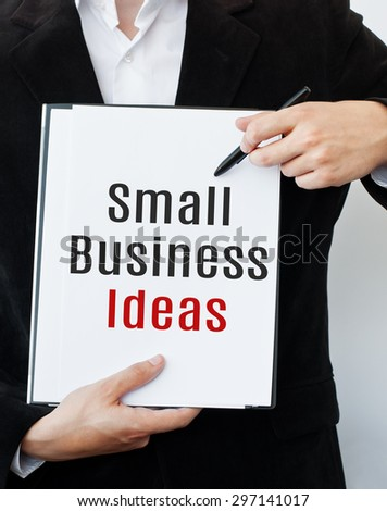 Small Business Ideas Concept