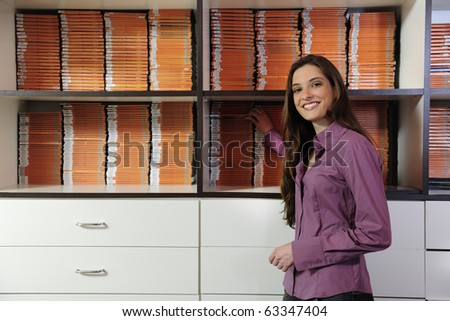 small business owner, woman at the video rental store