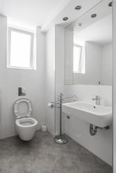 small but elegant half bathroom