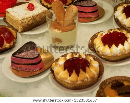 Small cakes with different stuffing Stock fotó ©