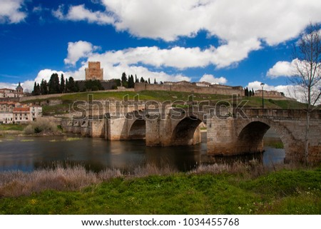 Shutterstock small castle of ciudad rodrigo, as can be seen from the other side of the tormes river