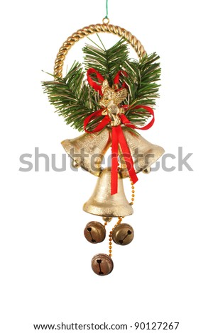Small christmas wreath isolated on white