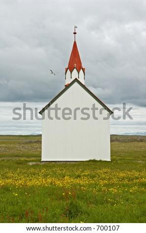 Small church in Alftanes, Borgarnes, Borgarfj?rdur, Iceland