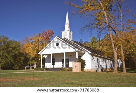 Small Church in Autumn