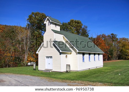 Small church in the Appalachian mountains - stock photo
