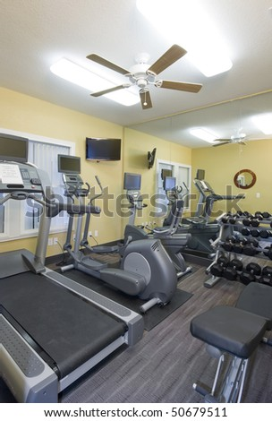 Small clubhouse fitness center