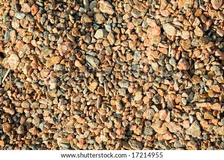 Small color sea stones background - stock photo