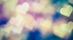 Small colorful hearth bokeh for valentine day love concept