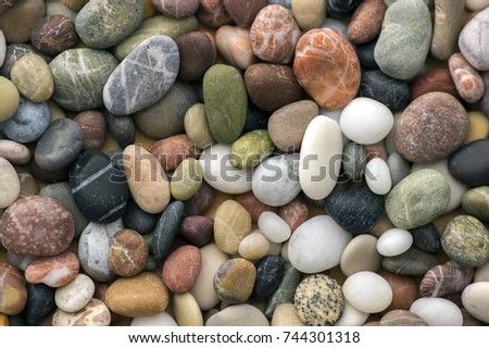 Small colorful pebbles background, simplicity, daylight, stones