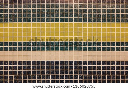 Small colorful tile tile texture background of bathroom or swimming pool tiles on wall #1186028755
