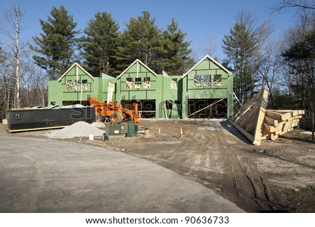 Small condo construction in the suburbs