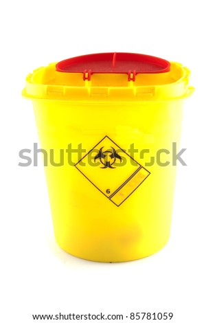 Small container which contains biohazard goods