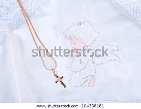 small crucifix on chain