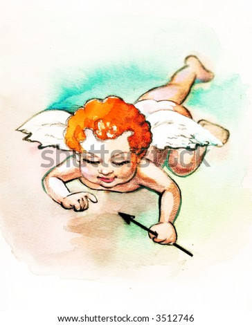 Small cupid with arrow #3512746