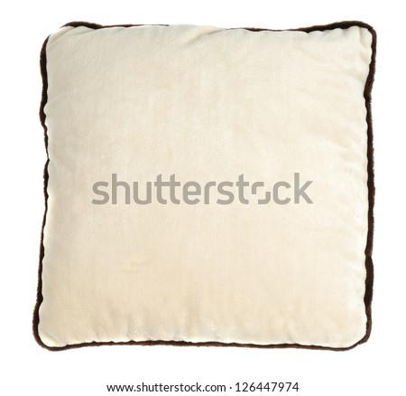 Small decorate pillow isolated over white background
