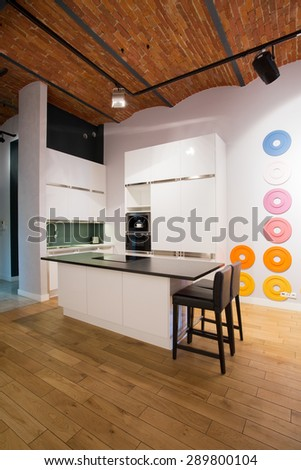 Small dining space in new modern studio flat