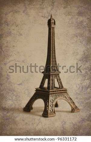 Findpicture  Eiffel Tower on Stock Photo   Small Eiffel Tower On Grunge Background  Lensbaby Image