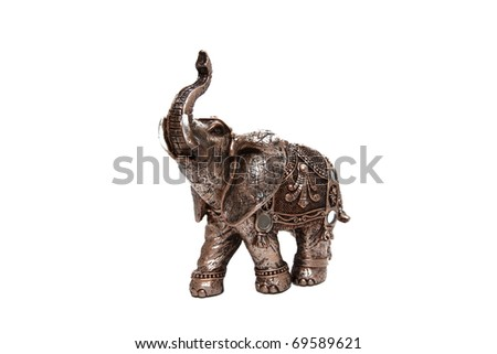 small elephant isolated