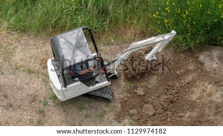 small excavator at work
