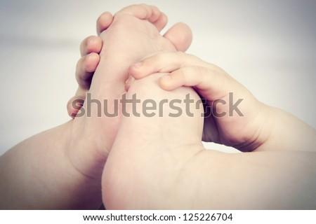 Small feet baby