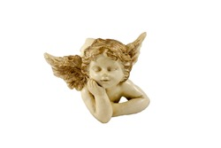 small figurine of lying little angel