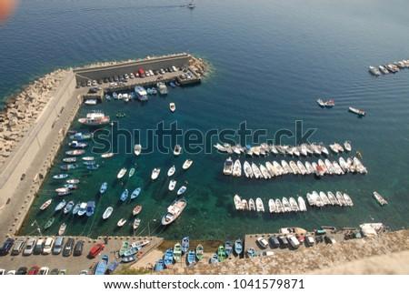 small fishing port #1041579871