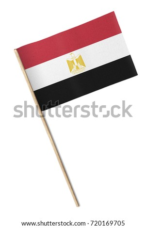Small flag isolated on a white background #720169705