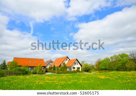 Small friendly family house in the village.