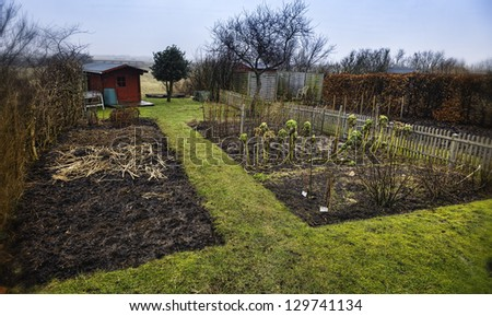 Small garden allotment. Traditional and very Danish.