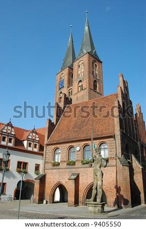 small German town Stendal, The church \