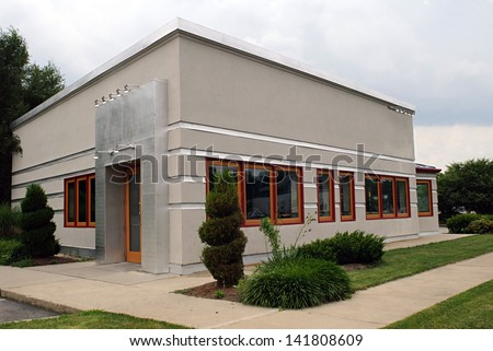 Small Gray Business Building #141808609