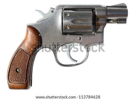 Small gun isolated on white