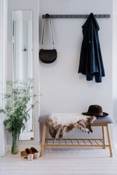 Small hallway in clean, modern interior