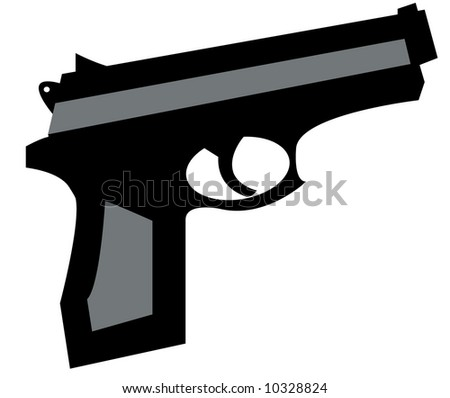 small hand gun in black and grey