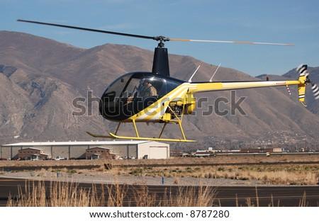 Small Helicopter Landing