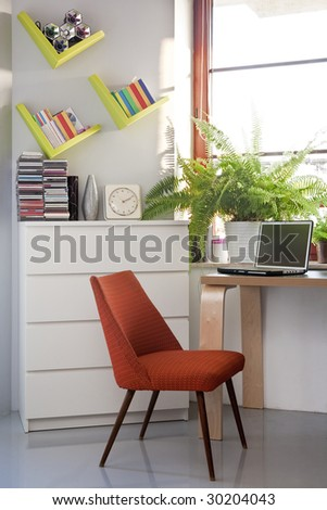 small home office with computer