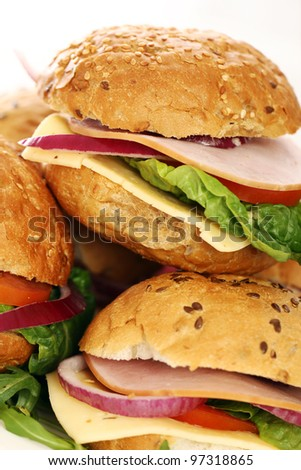 Small homemade sandwiches