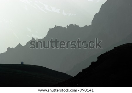 Small house in Kyrgyzstan - stock photo