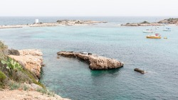 Small island at the Illetes bay