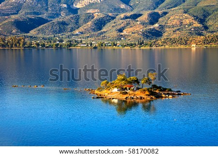 Small island in Aegean sea, Greece