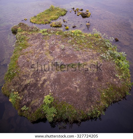 small island in Iceland #327724205