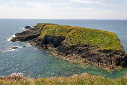 Small isle close to Annestown Beach in County Waterford,Ireland.