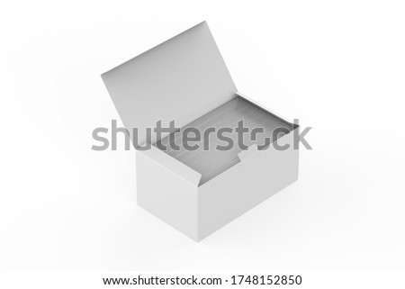 small Medical Face Masks boxes in side the big box. 3d illustration