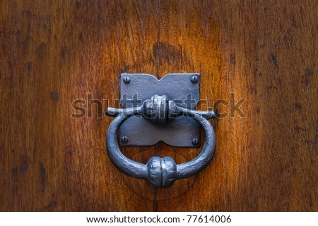 small metal knocker