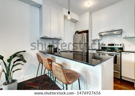 Small modern apartment in Montreal, Canada