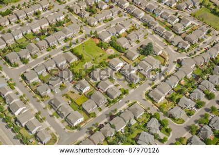 Small neighborhood in urban area