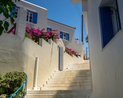 small pathways at Greek island