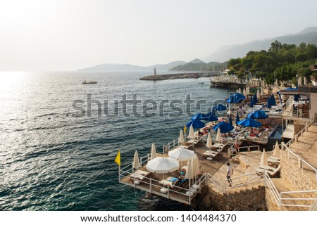 Small pebble beach ( Turkish; Küçük Çakıl Plajı )  - Kas - Antalya Stok fotoğraf ©