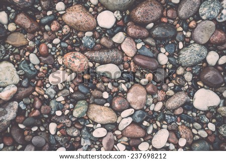 small pebble rock background...