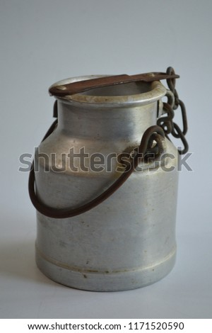 Small Pewter Milk Can #1171520590